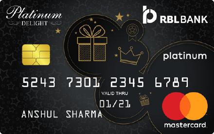 RBL Bank Platinum Delight Credit Card