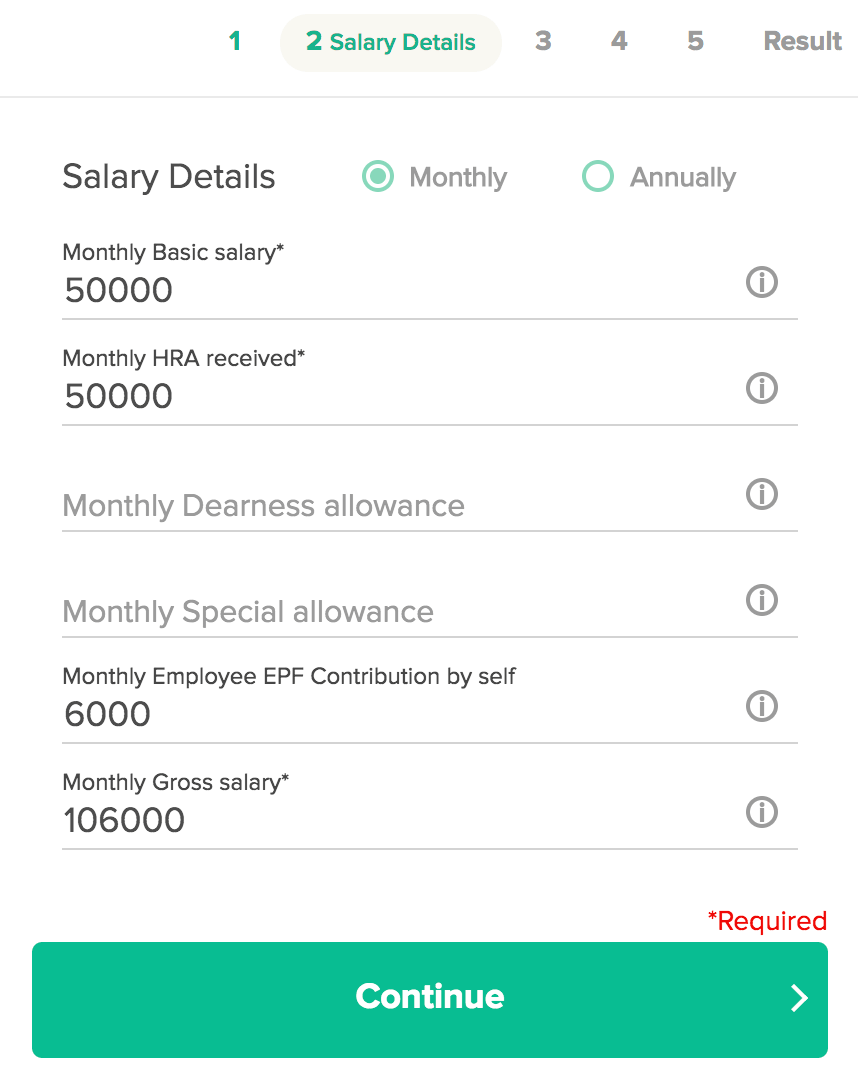 etmoney income tax calculator Salaried step2