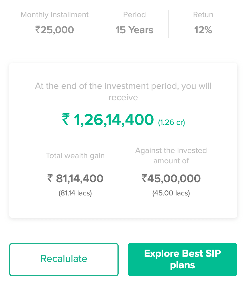 etmoney sip calculator step1